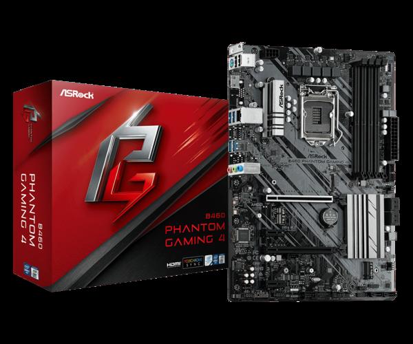 Мат.плата s1200 B460 ASRock B460 Phantom Gaming 4 (ATX 4xDDR4 2933 HDMI 1xM.2 RGB) (B460 Phantom Gaming 4)