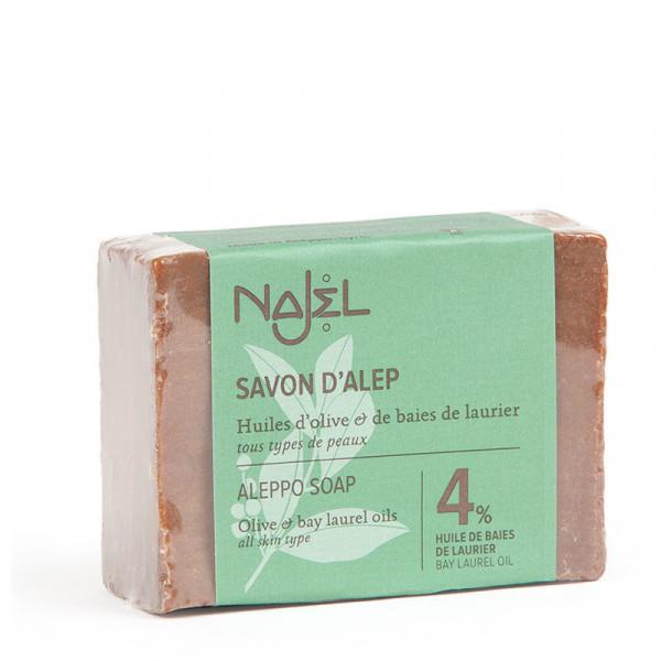 Алеппское мыло, 4% лавровое масло 155г, Najel