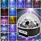 Световой диско-шар проектор LED Crystal Magic Ball Light, фото 8