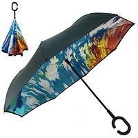 Зонт обратного сложения 110см 8сп MH-2713-14