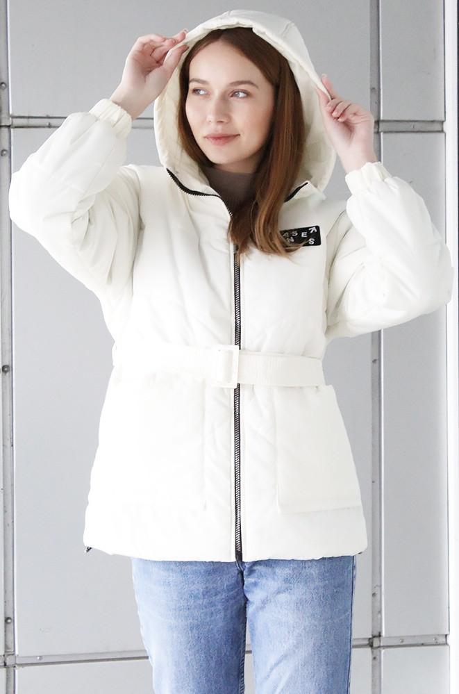 Куртка демисезонная подростковая девочка молочная NATALI