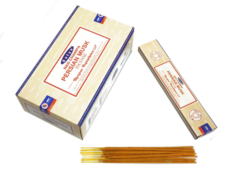 Аромапалочки пыльцевые Сатья Персидский Мускус Satya Persian Musk 15 грамм