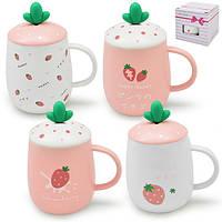 "Чашка с крышкой ""Strawberry"" 400мл TL00005"