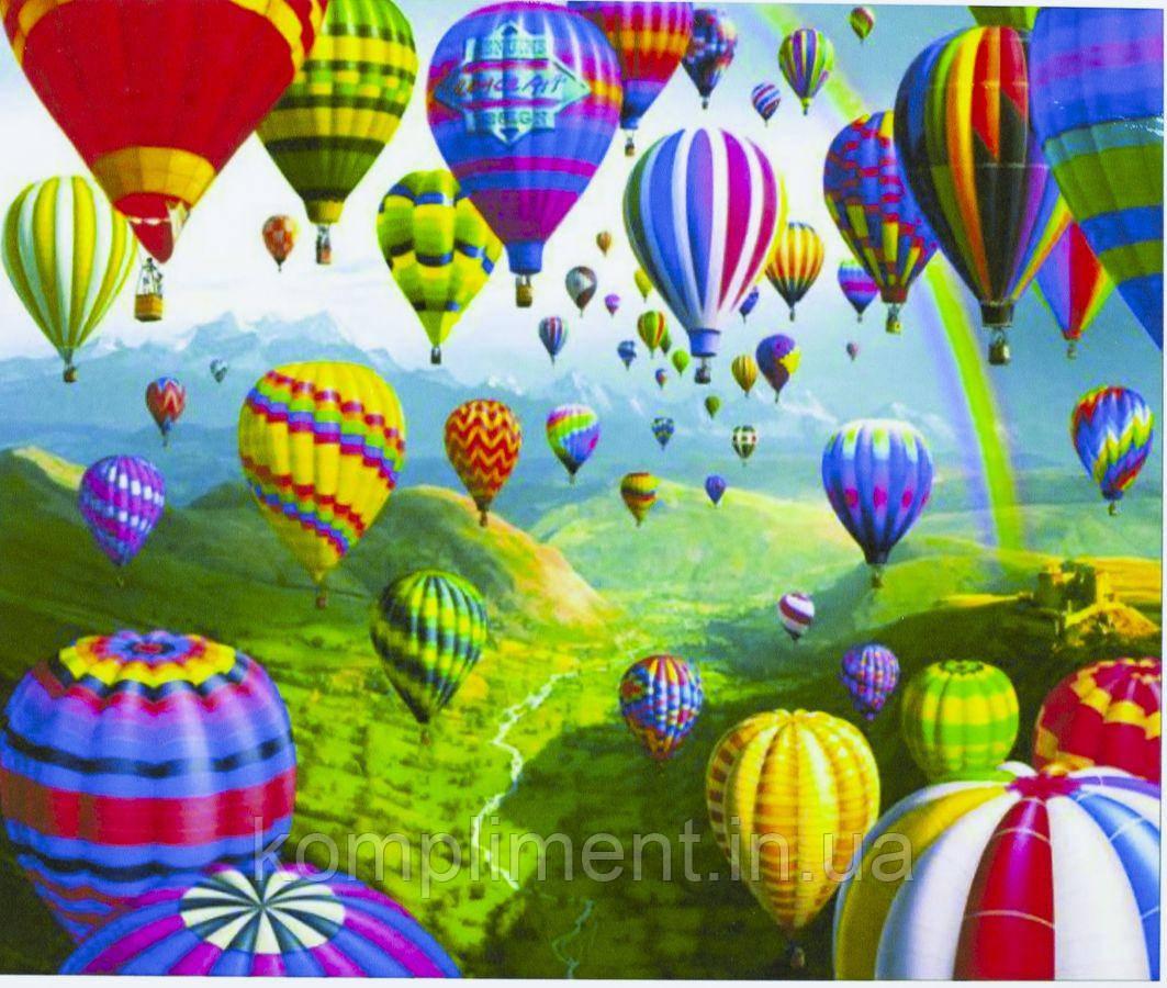 """Картина по номерам  """"Парад воздушных шаров"""" 40*50 см, краски - акрил"""