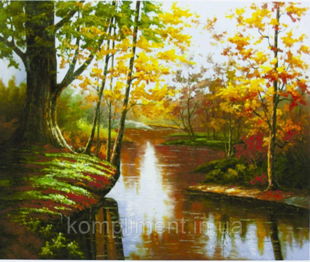 """Картина за номерами """"Осінній пейзаж"""" 40*50 см, фарби - акрил"""