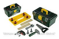 Детский Игровой Безопасный Набор Инструментов Bosch с шуруповертом 13 предметов со светом и звуком Klein Кляин