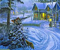 """Картина по номерам  """"Новогоднее"""" 40*50 см, краски - акрил"""