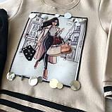 Теплый костюм с начесом  на девочку 432. Размер 110 см, 116 см, 122 см, 128 см, фото 2