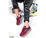 Зимние кроссовки бордовые NB, фото 4