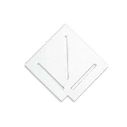 Aquaviva Угловой элемент AquaViva DK-25-1 Matt для переливной решетки 90° 245/25 мм (белый)
