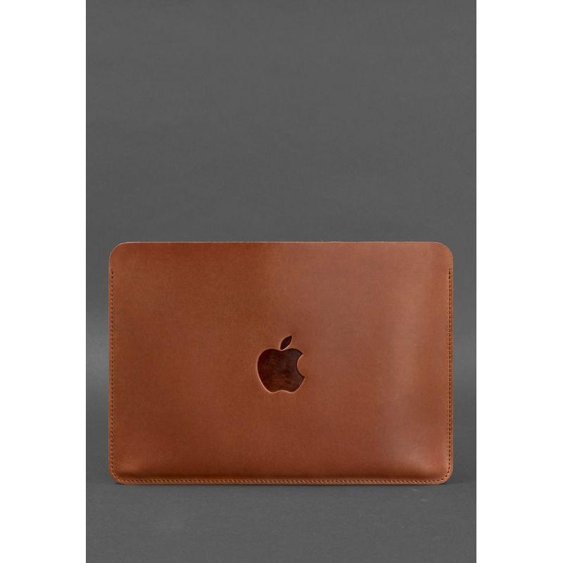 Горизонтальный кожаный чехол для MacBook Pro 13'' Светло-коричневый