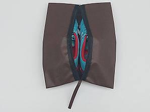 Чехол-сумка коричневого цвета для хранения и упаковки обуви