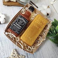 """Мыло ручной работы """"Виски Джек Дэниниелс и слиток золота"""""""