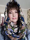 Посадский 874-14, павлопосадский платок (шаль) из уплотненной шерсти с шелковой вязаной бахромой, фото 8