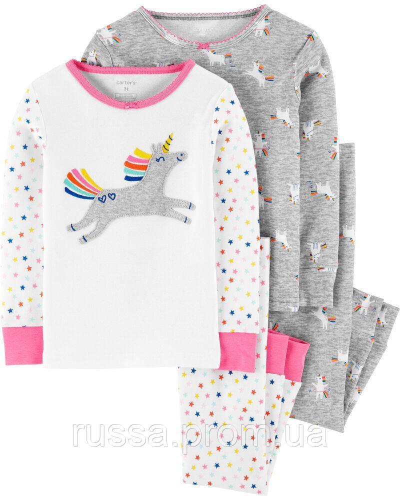 Красивые детские пижамы Единороги Картерс для девочки (поштучно)