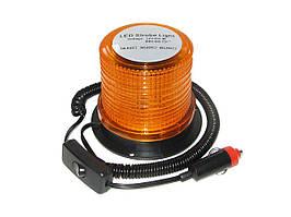 Мигалка светодиодная 117*87.5*103 12-24V 30LED синяя с перекл. вкл/выкл