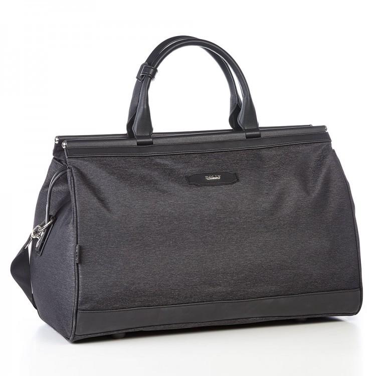 Дорожня сумка саквояж чорна на 36 л. Dolly 251 з плечовим ременем