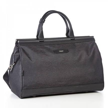 Дорожня сумка саквояж чорна на 36 л. Dolly 251 з плечовим ременем, фото 2