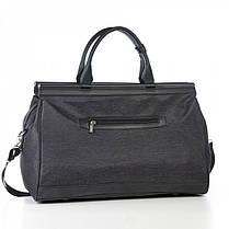 Дорожня сумка саквояж чорна на 36 л. Dolly 251 з плечовим ременем, фото 3