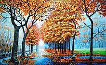 Алмазная мозаика Осенний парк 50x30см DM-265 Полная зашивка. Набор алмазной вышивки