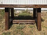 Мебель под старину в беседку из массива состаренного дерева от производителя, фото 10