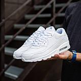 Мужские кроссовки Крос 90 (кожа белые), фото 2