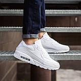 Мужские кроссовки Крос 90 (кожа белые), фото 4