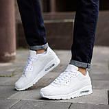 Мужские кроссовки Крос 90 (кожа белые), фото 5