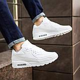 Мужские кроссовки Крос 90 (кожа белые), фото 6