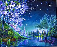 """Картина по номерам  """"Лунная ночь"""" 40*50 см, краски - акрил"""
