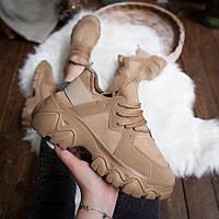 Женские кроссовки Стилли Маня (коричневые), фото 1
