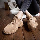 Женские кроссовки Стилли Маня (коричневые), фото 4