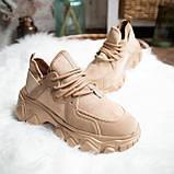 Женские кроссовки Стилли Маня (коричневые), фото 7