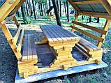Шестигранная сборная беседка из дерева 4,4 м2 дачная недорого от производителя Wood Gazebo 005, фото 5