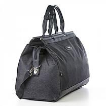 Велика дорожня сумка чорна на 49 л. Dolly 252 саквояж з плечовим ременем, фото 2