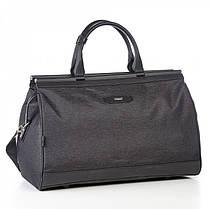 Велика дорожня сумка чорна на 49 л. Dolly 252 саквояж з плечовим ременем, фото 3