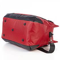 Сумка дорожная на 3 отдела практичная с плечевым ремнем Dolly 795 красная, фото 2
