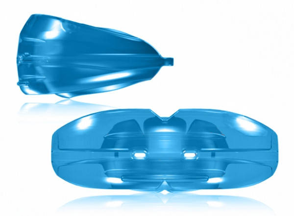Ортодонтический трейнер для зубов T4А синий Soft (мягкий)