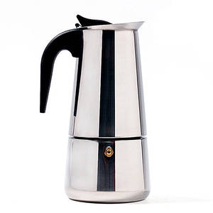 Гейзерна кавоварка Benson нержавіюча сталь на 4 чашки (індукція)