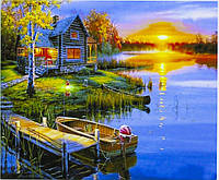 "Картина по номерам  ""Теплый летний вечер"" 40*50 см, краски - акрил"