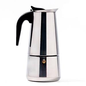 Гейзерна кавоварка Benson нержавіюча сталь на 9 чашок (індукція)