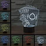 Електричний світильник Настільний з оптичним ефектом 3D, фото 2