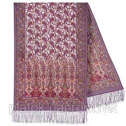 Обольщение 1338-51, павлопосадский шарф-палантин шерстяной с шелковой бахромой