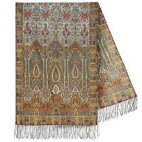 Царский 1159-51, павлопосадский шарф-палантин шерстяной с шелковой бахромой, фото 1