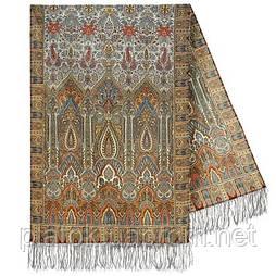 Царський 1159-51, павлопосадский шарф-палантин вовняної з шовковою бахромою