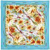 Мимолетное виденье 1407-11, павлопосадский шейный платок (крепдешин) шелковый с подрубкой