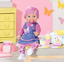Кукла пупс Baby Born Нежные объятия Оригинал Бэби Борн Джинсовый лук 831298