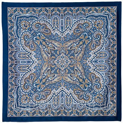 Новелла 846-13, павлопосадский платок (атлас) шелковый с подрубкой