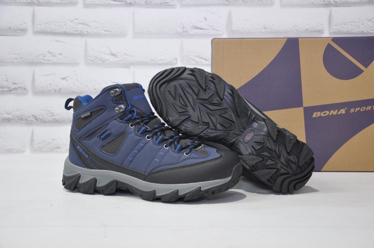 Мужские зимние высокие непромокаемые кроссовки на мембране BONA