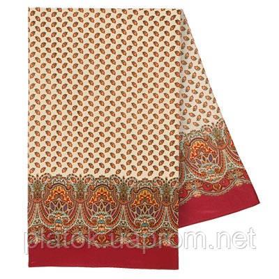 Маркиза 722-5, павлопосадский шарф шелковый крепдешиновый с подрубкой